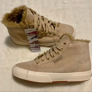 Superga 2795 Shearling-Lined High Top Sneakers